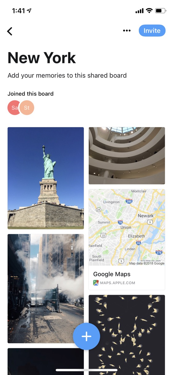 Screenshot of Collect