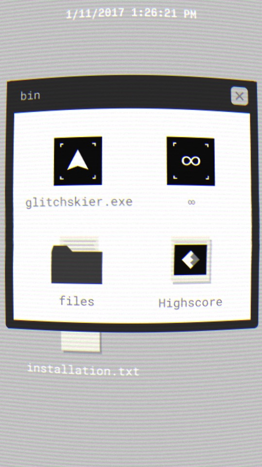 Screenshot of Glitchskier