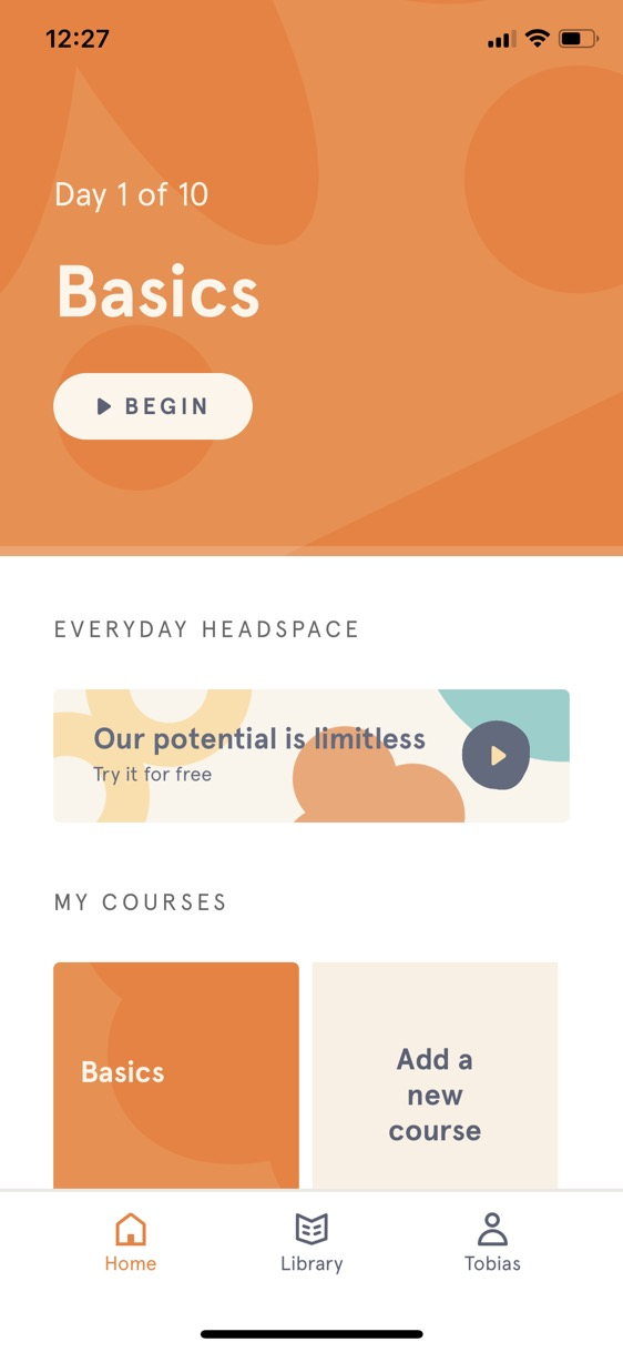 Screenshot of Headspace