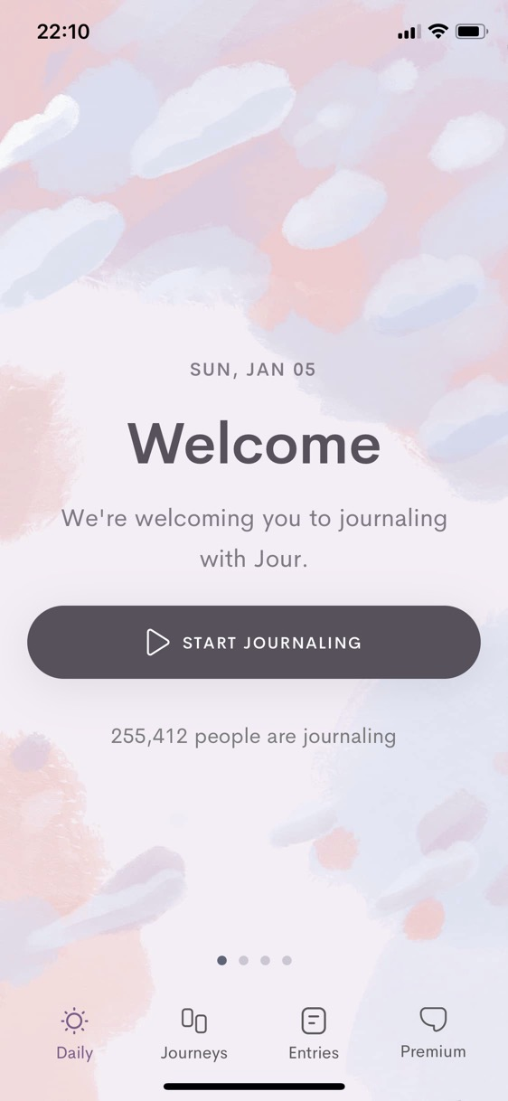 Screenshot of Jour