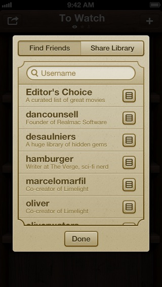 Screenshot of Limelight