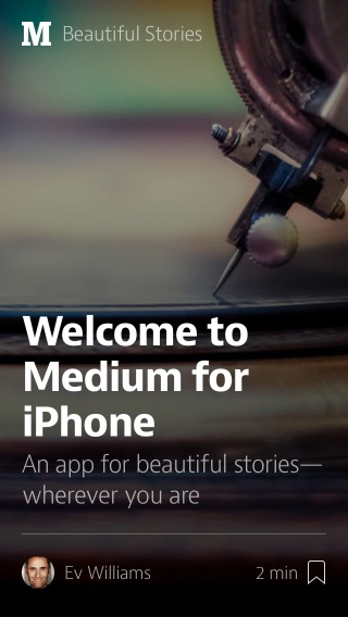 Screenshot of Medium