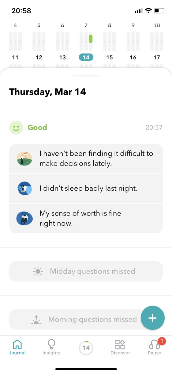 Screenshot of Moodpath