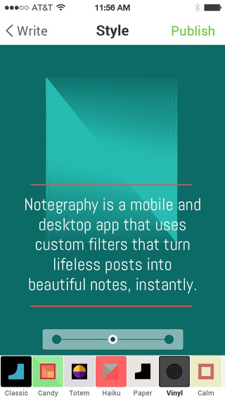 Screenshot of Notegraphy